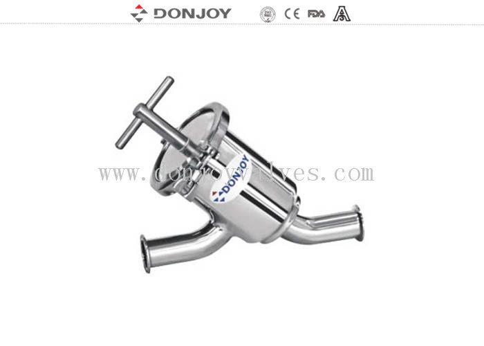 ANSI 304 SS Clamp Y Type Strainer , DN40 Sanitary Y Strainer Stainless Steel