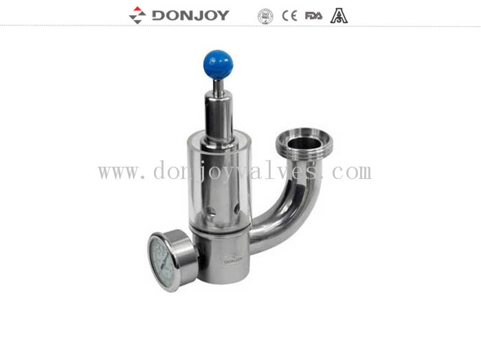 316L Pressure Safety Valve With Pressure Guage exhaust valve with glass window