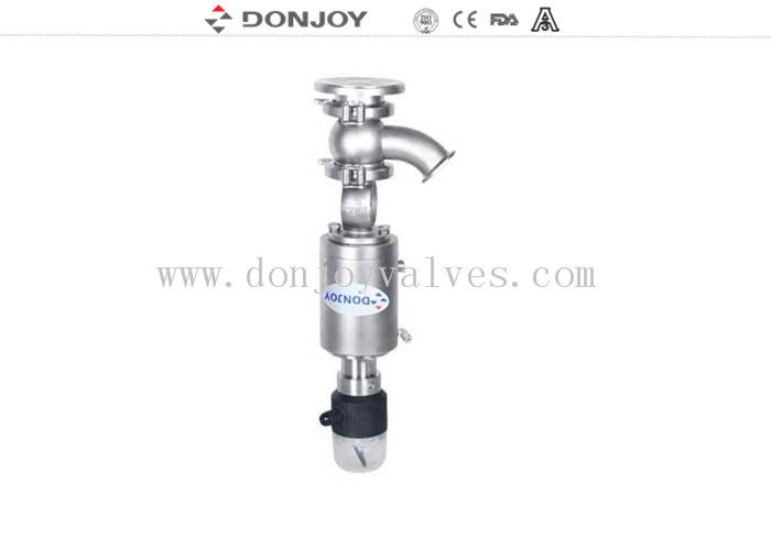 1 Inch Pneumatic Tank Bottom Stainless Steel Valves With Position feedback unit F-TOP
