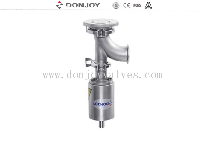 Clamp Connection Sanitary Tank Bottom Valve 3 Inch Size SS316L Material
