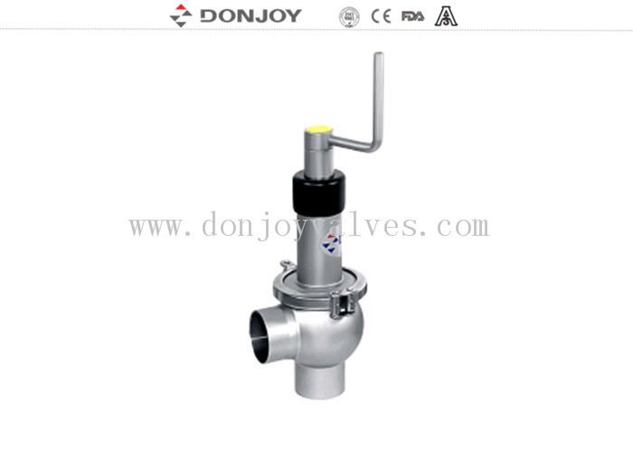 Manual regulating 304 / 316L reversing seat valve with rotary handle 1'' - 6''