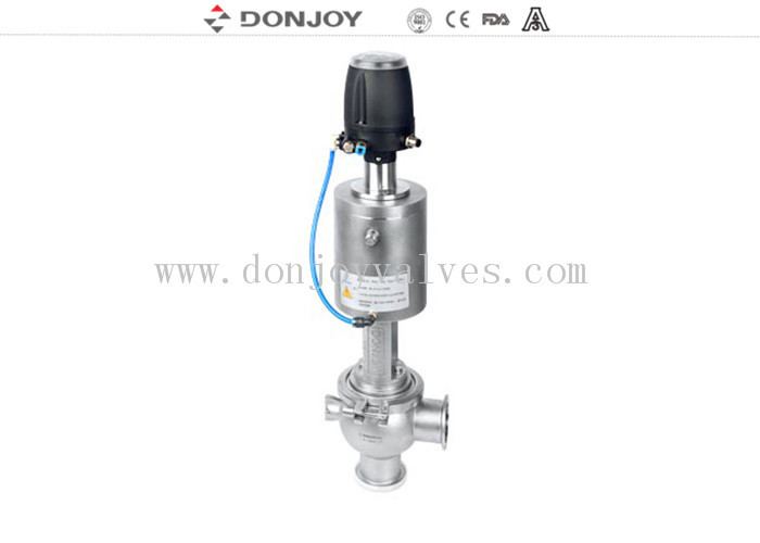 SS 304 3 Inch Aseptic Pneumatic Reversing Regulating Valve with Single Seat EPDM Gakset