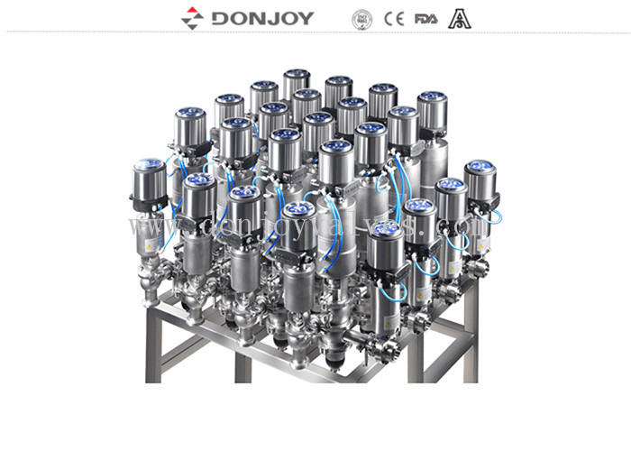 Array Sanitary Reversing Seat Valve Typical Mixing Proof Valve 316L Material
